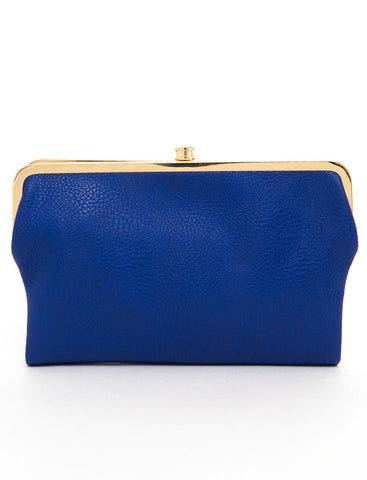 The Sandra Clutch Wallet - Blue - Ampere Creations