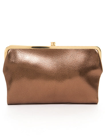 The Sandra Clutch Wallet - Bronze - Ampere Creations