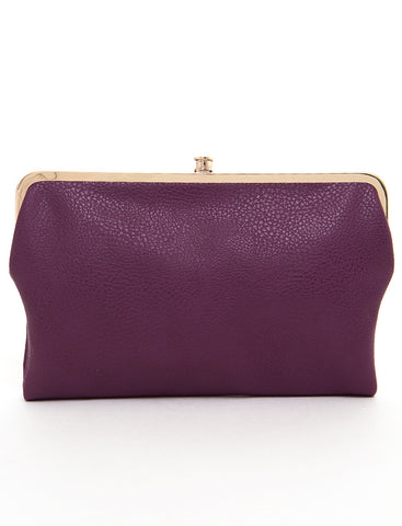The Sandra Clutch Wallet - Purple - Ampere Creations