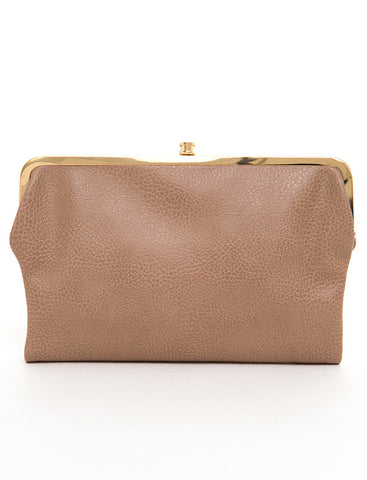 The Sandra Clutch Wallet - Taupe - Ampere Creations