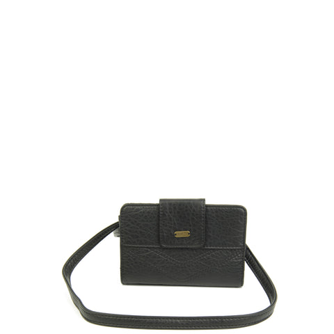 The Sophia Wallet Crossbody - Black - Ampere Creations