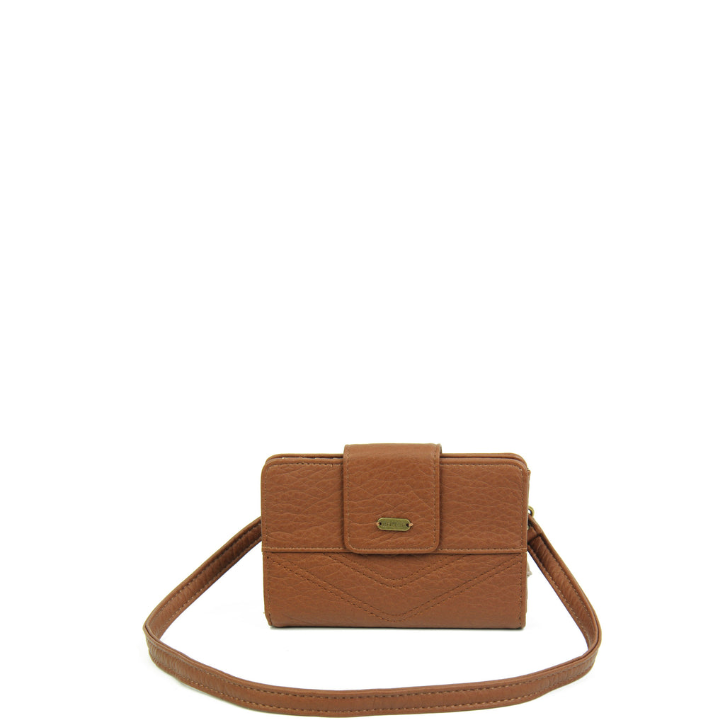 The Sophia Wallet Crossbody - Brown - Ampere Creations