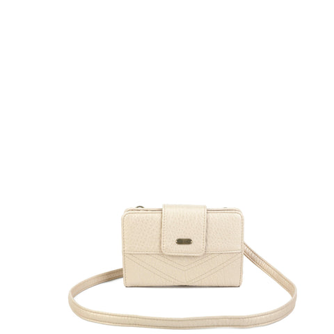 The Sophia Wallet Crossbody - Champagne - Ampere Creations