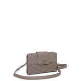 The Sophia Wallet Crossbody - Dark Grey - Ampere Creations