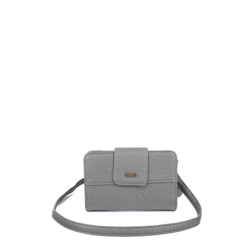 The Sophia Wallet Crossbody - Dark Silver - Ampere Creations