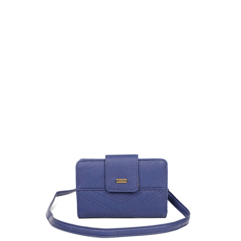 The Sophia Wallet Crossbody - Navy Blue - Ampere Creations