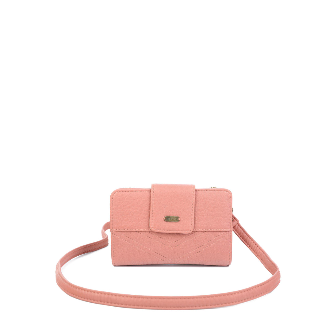 The Sophia Wallet Crossbody - Peach - Ampere Creations