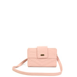 The Sophia Wallet Crossbody - Petal Pink - Ampere Creations