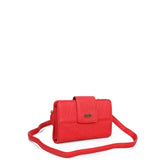 The Sophia Wallet Crossbody - Poppy Red - Ampere Creations