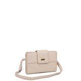 The Sophia Wallet Crossbody - Taupe - Ampere Creations