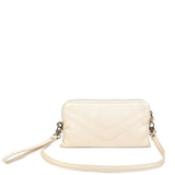The Samantha Wallet Crossbody - Champagne - Ampere Creations