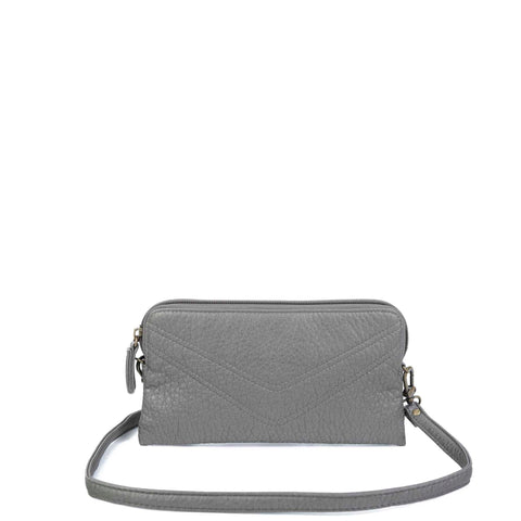 The Samantha Wallet Crossbody - Dark Silver - Ampere Creations