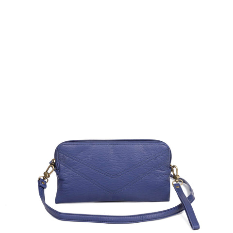 The Samantha Wallet Crossbody - Navy Blue - Ampere Creations