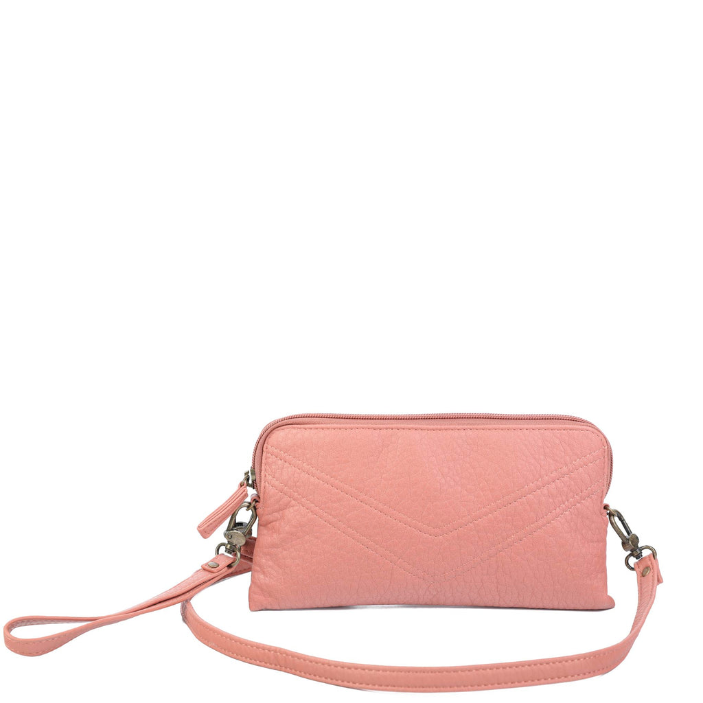 The Samantha Wallet Crossbody - Peach - Ampere Creations