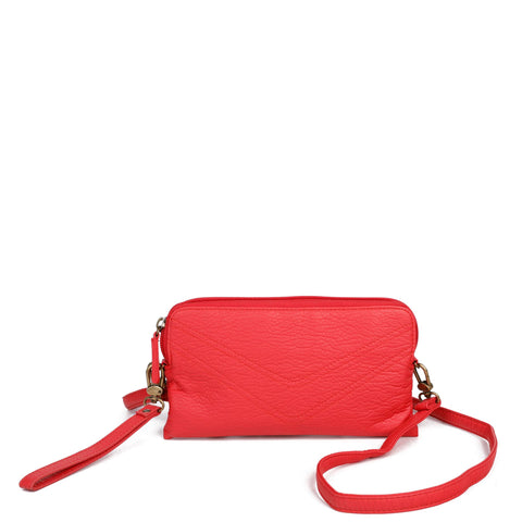 The Samantha Wallet Crossbody - Poppy Red - Ampere Creations