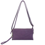 The Samantha Wallet Crossbody - Purple - Ampere Creations