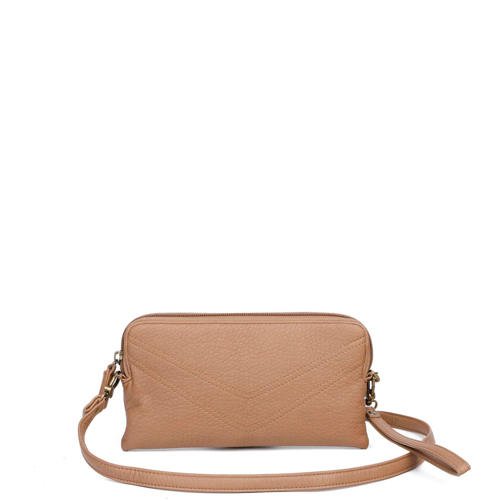 The Samantha Wallet Crossbody - Sand - Ampere Creations