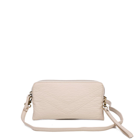 The Samantha Wallet Crossbody - Taupe - Ampere Creations