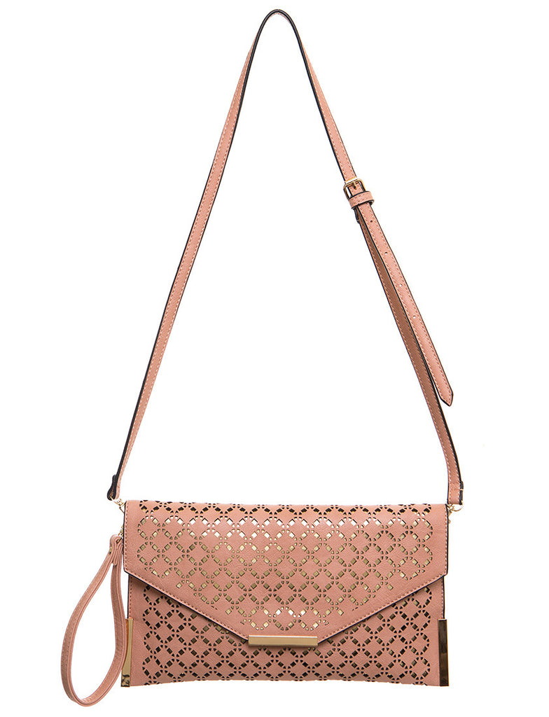 The Ana Laser Cut Messenger - Nude
