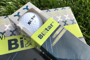 Bixtar golf ball in packaging