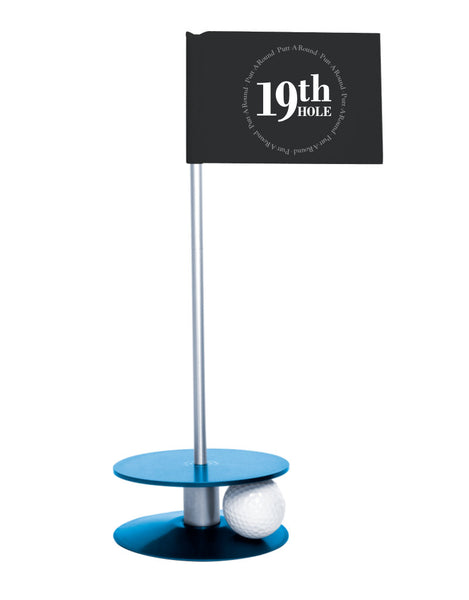 Putt-A-Round 19th Hole Flag with blue base - The perfect golf gift