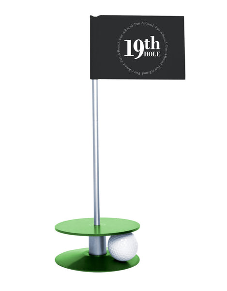 Putt-A-Round 19th Hole Flag with green base - The perfect golf gift