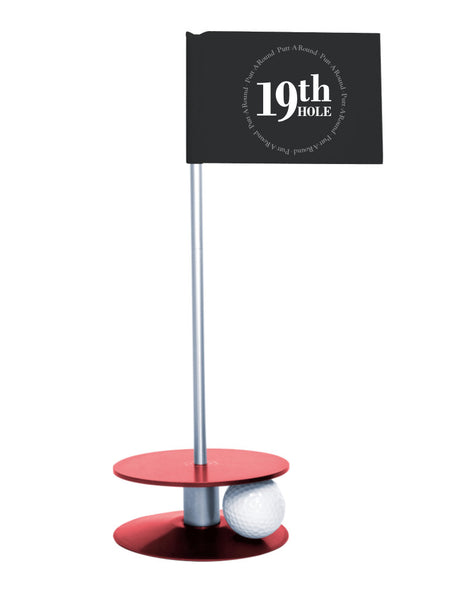 Putt-A-Round 19th Hole Flag with red base - The perfect golf gift