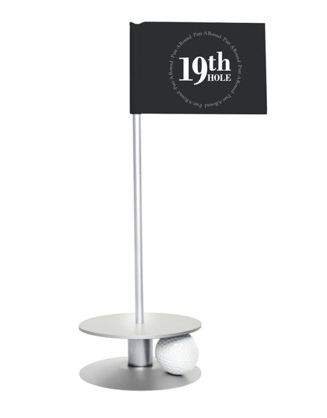 Putt-A-Round 19th Hole Flag with silver base - The perfect golf gift