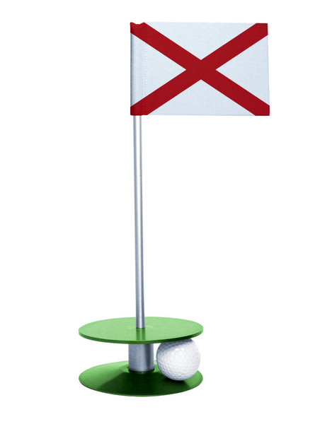 Alabama State Flag Putt-A-Round with a green base. Improve your short game.