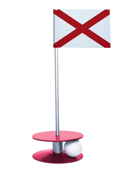 Alabama State Flag Putt-A-Round with a pink base. Improve your short game.