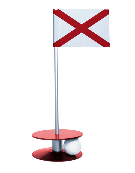 Alabama State Flag Putt-A-Round with a red base. Improve your short game.