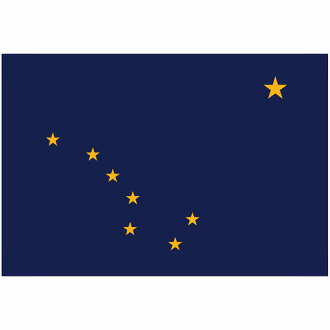 Alaska State Flag for Putt-A-Round - Flag Only