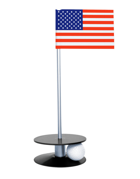 Putt-A-Round American Flag with Black Base - A great gift for those who love golf and the USA