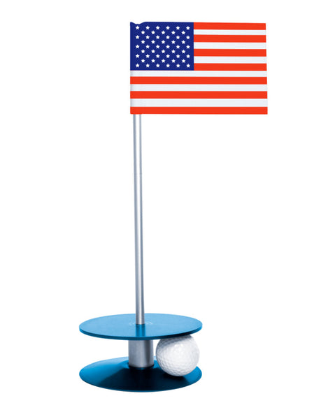 Putt-A-Round American Flag with Blue Base - A great gift for those who love golf and the USA