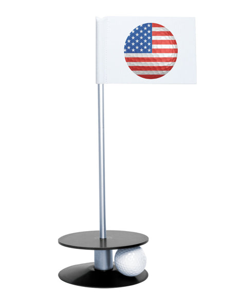Putt-A-Round American Flag Golf Ball with Black Base - Perfect gift for the patriotic golfer