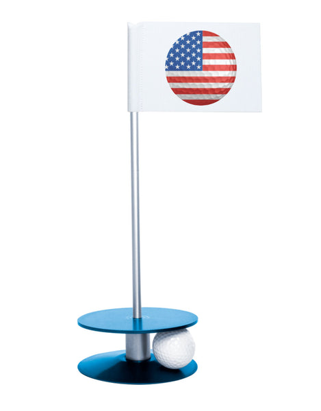 Putt-A-Round American Flag Golf Ball with Blue Base - Perfect gift for the patriotic golfer