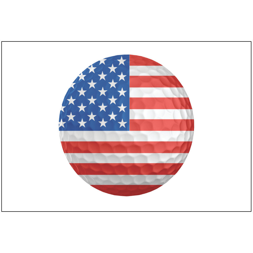 American Flag Golf Ball for Putt-A-Round - Flag Only