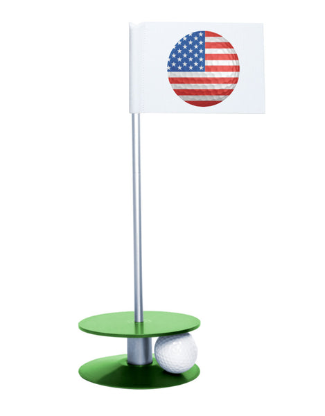 Putt-A-Round American Flag Golf Ball with Green Base - Perfect gift for the patriotic golfer