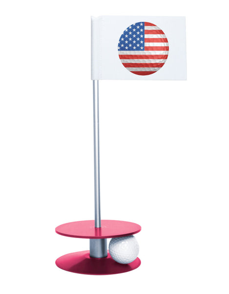 Putt-A-Round American Flag Golf Ball with Pink Base - Perfect gift for the patriotic golfer