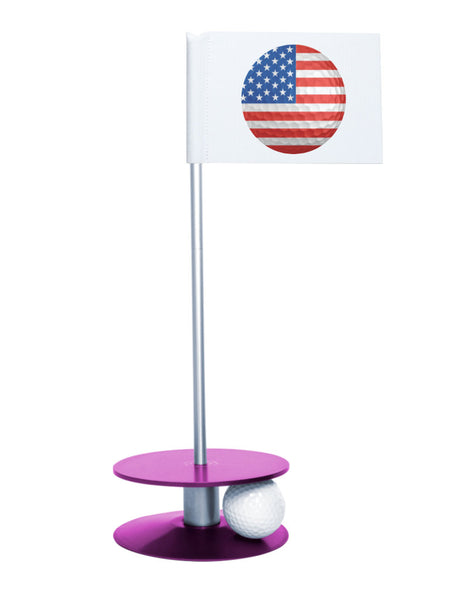 Putt-A-Round American Flag Golf Ball with Purple Base - Perfect gift for the patriotic golfer