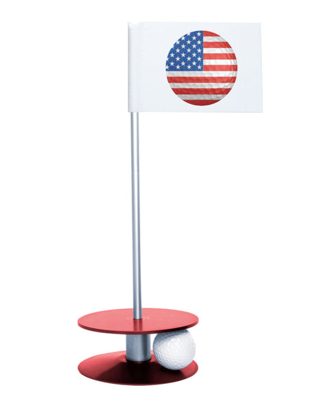 Putt-A-Round American Flag Golf Ball with Red Base - Perfect gift for the patriotic golfer
