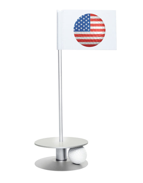 Putt-A-Round American Flag Golf Ball with Silver Base - Perfect gift for the patriotic golfer