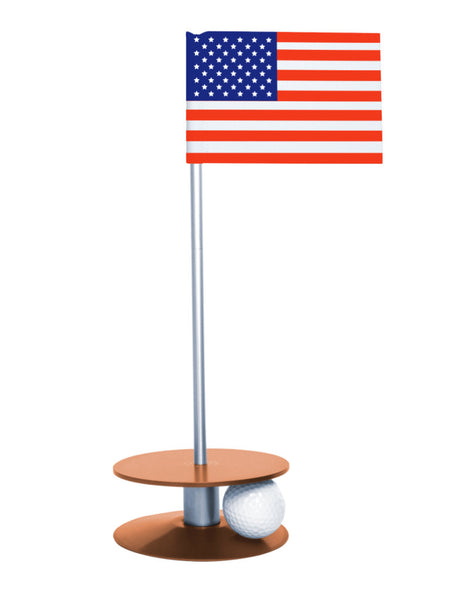 Putt-A-Round American Flag with Orange Base - A great gift for those who love golf and the USA