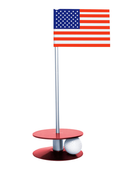 Putt-A-Round American Flag with Red Base - A great gift for those who love golf and the USA