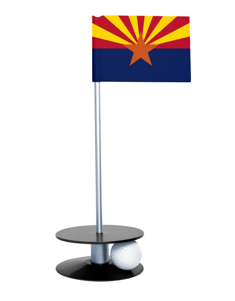 Arizona State Flag Putt-A-Round with a black base. Improve your short game.