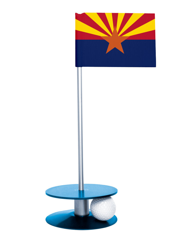 Arizona State Flag Putt-A-Round with a blue base. Improve your short game.