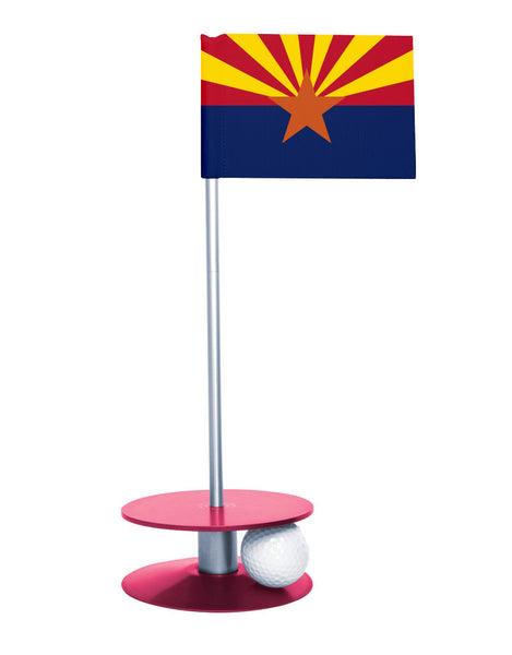 Arizona State Flag Putt-A-Round with a pink base. Improve your short game.