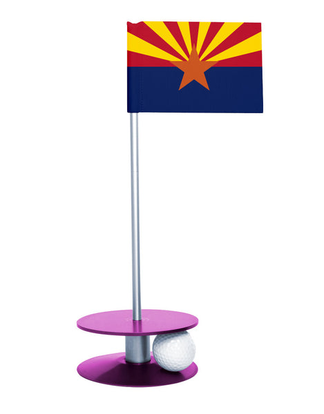 Arizona State Flag Putt-A-Round with a purple base. Improve your short game.
