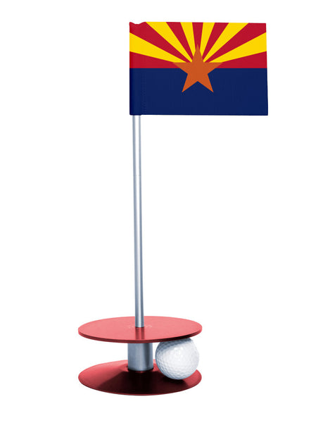 Arizona State Flag Putt-A-Round with a red base. Improve your short game.