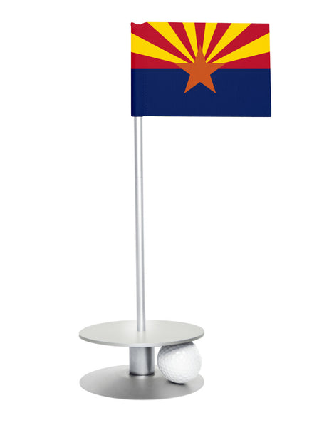 Arizona State Flag Putt-A-Round with a silver base. Improve your short game.
